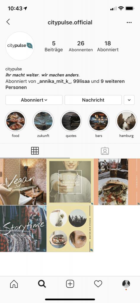 Instagram Citypulse