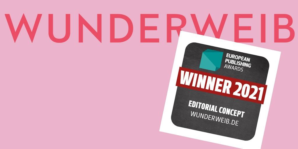 WUNDERWEIB gewinnt European Publishing Award