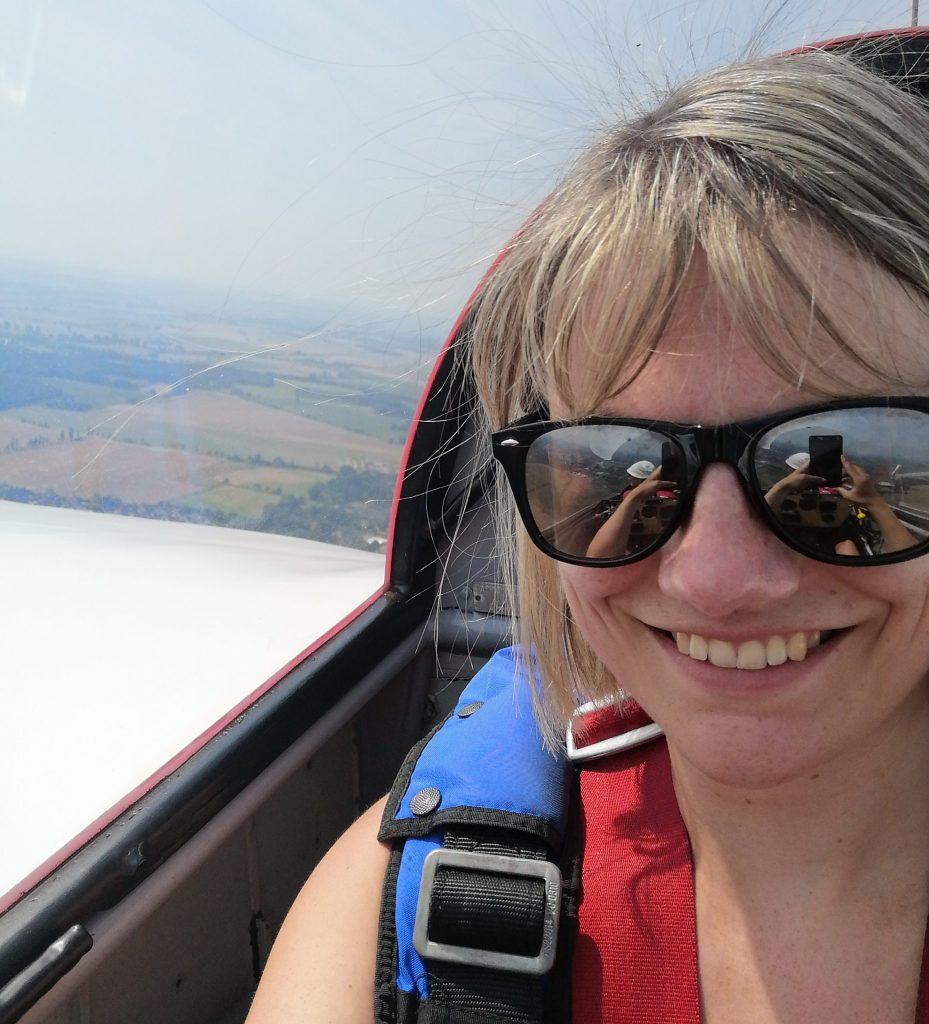 Sarah Klas beim Segelfliegen
